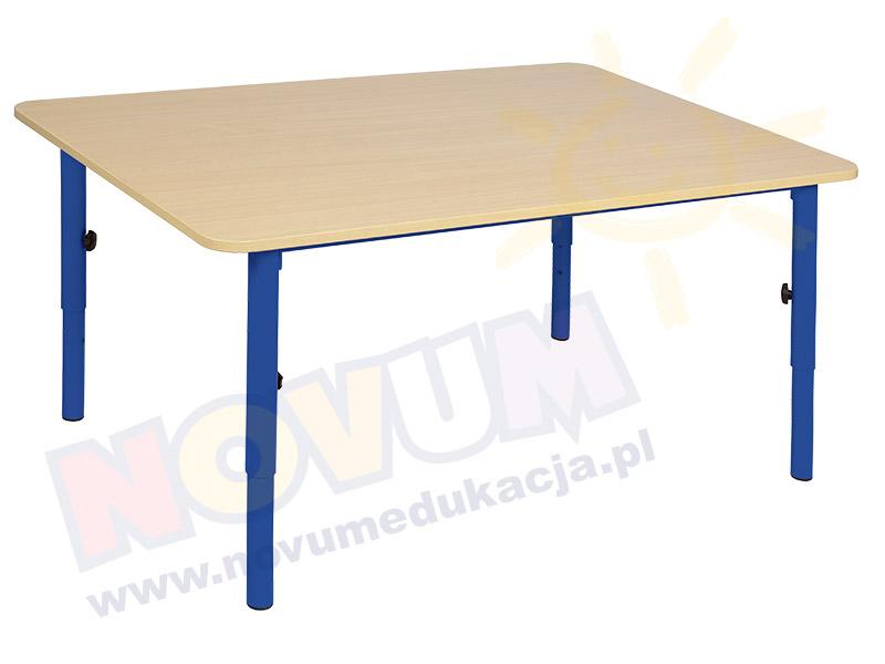 Stolik przedszkolny reg. 40-59 nogi niebieskie, blat klon