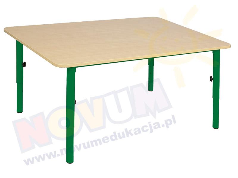 Stolik przedszkolny reg. 40-59 nogi zielone, blat klon
