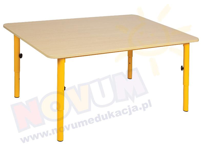 Stolik przedszkolny reg. 59-76 nogi żółte, blat klon