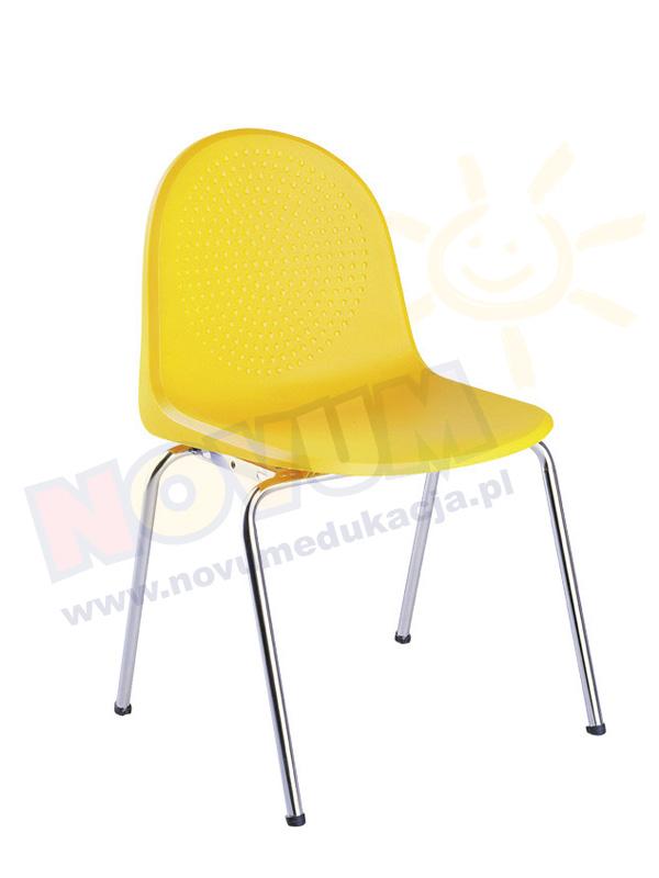 Krzesło AMIGO alu żółte