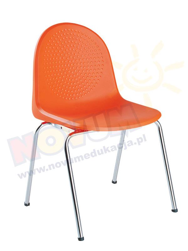 Krzesło AMIGO alu pomarańczowe