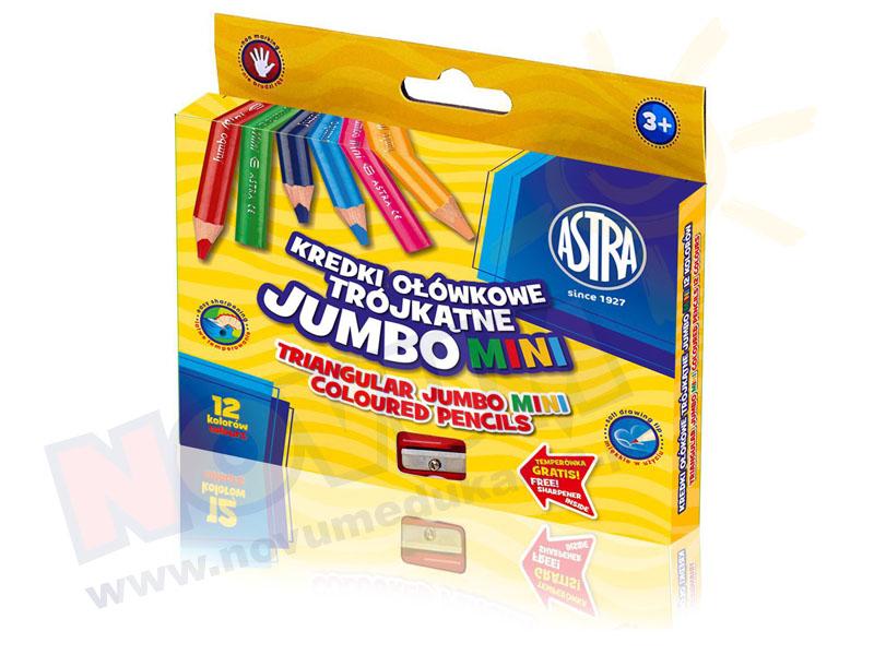 Kredki ołówkowe trójkątne Jumbo mini - 12 kolorów